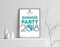Summer party invite for a cafe