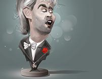 Andrea Bocelli Caricature