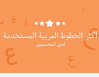 أنفوجرافيك | أكثر الخطوط العربية استخداما