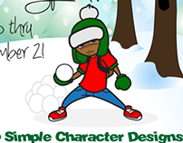 Character Design Christmas Special Flyer
