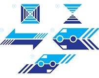 Blue Lines Logo Options