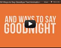 """50 Ways"" Text Animation (student work)"
