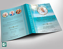 Oceanic Funeral Program Large Publisher Template ( 6 Co