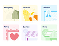 Cowrywise - Mobile App Illustrations.