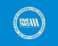 adidas FiveTwo3 branding