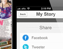 My Story  App share screen