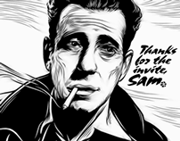 Bogart, Dribbble Invite Illustration