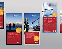 Infofolder für den Flughafen Dresden