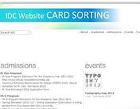IDC Website : Card Sorting