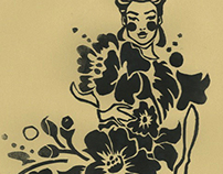 Floral Linoleum Carving