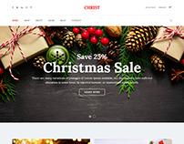 Christ - Christmas Gift Shop eCommerce HTML Template