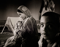 Refugee children in south algeria (photojournalism)