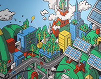 Green Global Energy Mural