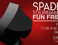 Spades Tournament Poster