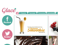 Glace, Website