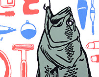 'Bait and Tackle' Screen Print