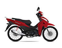 Ilustración Moto Honda Wave.