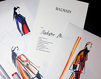 Live sketches from the Balmain show