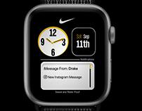 Minimal Nike Apple WatchOS UI Design