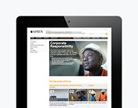 Afren plc Corporate website