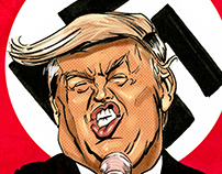 Trump caricature.