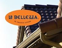 La Bellezza standing banner