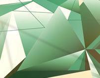 Fashion green triptych.