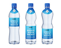 Mineral water bottle mockups