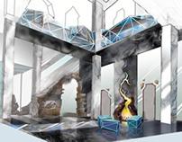 "Interior draft-design of vestibule of "" Kerkinitida"""