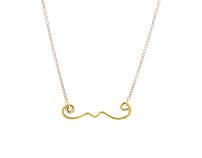 Goldlilocks Moustache necklace
