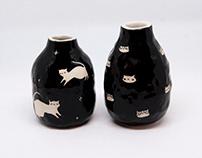 Tiny Cat Vases