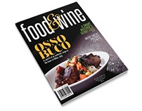 food & wine cover plus title article spread
