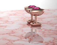 Pink Sapphire Cufflinks