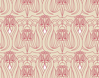 Hungarian tulips - pattern design