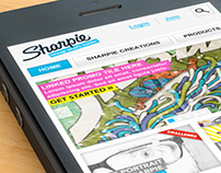Sharpie Mobile Site Design