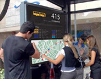 Bus lines information - Multitouch panel