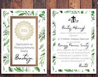 Eco invitation - First Holy Communion