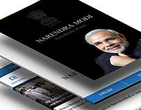 Narendra Modi - PMO App Design