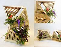 Bamboo Modular Lamp / Planter