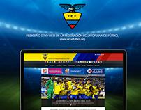 WEB DESIGN. Federación Ecuatoriana de Fútbol