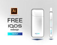 FREE IQOS redesign | vector
