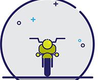 Line icon bike