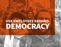 UvA Employees demand democracy