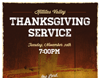 Poster - Kittitas Valley Thanksgiving Service