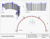 Curved Lo-Res LED Wall - Las Vegas