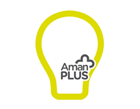 Aman+ Lightbulb Logo & Package