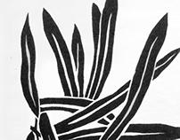 Algie - Lino Cut Print