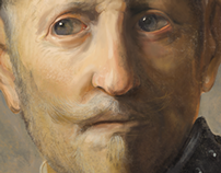 Digital Painting Exercise - Rembrandt Piece