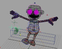 3D Maya Blue Man Project