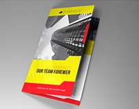 Indesign Template A4 trifold brochure fancy yellow